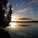 Morgends beim Angeln am Childs Lake