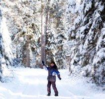 Miriam im Schnee