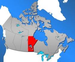Lage von Manitoba innerhalb Kanadas