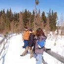 Pause im RMNP mit viel Schnee uns Sonne.