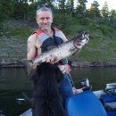 4 kg Forelle gefangen im Silver Lake, Kenora, Ontario