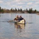 Probefahrt mit neuem Kanu
